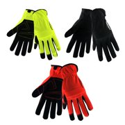 Hyper Tough Economy Performance Synthetic Leather Glove with Padded Knuckle, 1 Pair, Medium