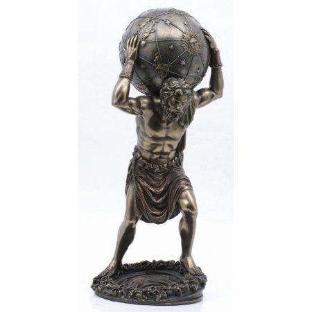 11.75 Inch Man with Atlas Globe Shrugged Resin Statue Figurine