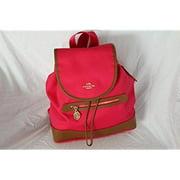 coach sawyer canvas backpack handbag ruby f37240 by