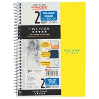 Five Star Wirebound College Ruled Notebook 2 Subject - Five Star Notebooks