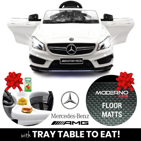 2019 Mercedes Benz CLA 12V Ride On Car for Kids w/ Remote Control, Kids Car to Ride Licensed Kid Car to Drive - Dining Table, Leather Seat, Openable Doors, LED Lights Mercedes Benz 500sl