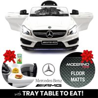 2019 Mercedes Benz CLA 12V Ride On Car for Kids w/ Remote Control, Kids Car to Ride Licensed Kid Car to Drive - Dining Table, Leather Seat, Openable Doors, LED Lights