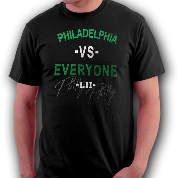 Philadelphia VS Everyone LII World Champs Black T-Shirt - Medium