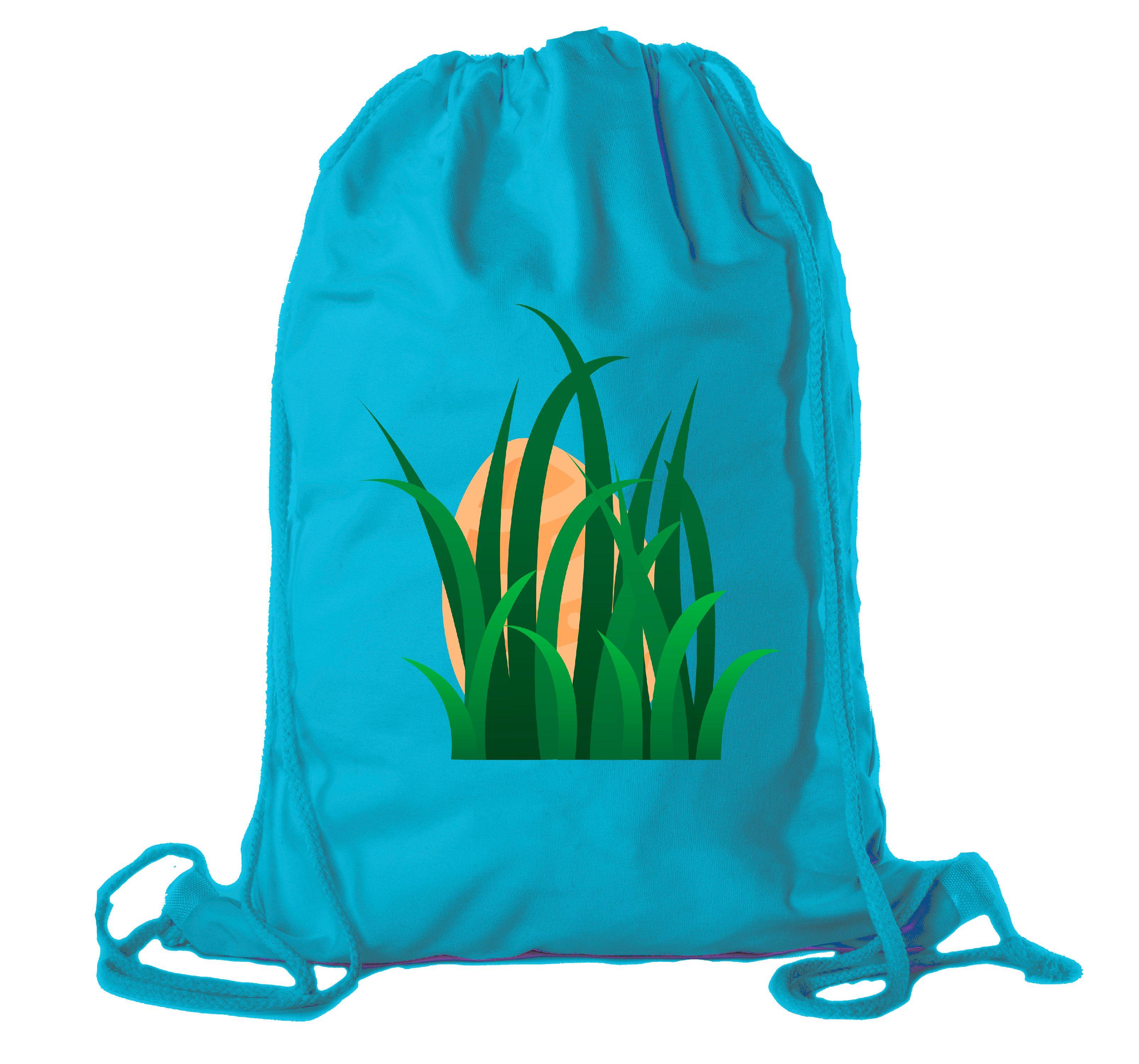 Easter Basket Backpack Bulk Cotton Drawstring Cinch Bags Easter Bunny Gift Bags - No Peaking
