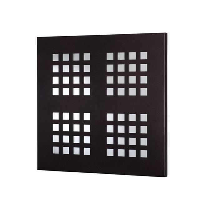 Metal Decor WA-1006-M-BLK Small Squares Black Ridge Metal Mirror & Wall Decor Art