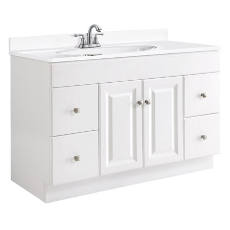 Design House 531145 Wyndham Unassembled 2-Door 4-Drawer Vanity without Top, 48