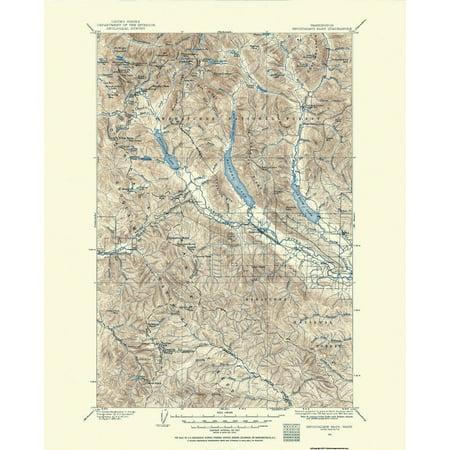 Old Topographical Map Print   Snoqualmie Pass Washington Quad   Usgs 1901   17 X 21 13