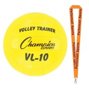 Champion Sports Bundle: Volleyball Trainer Yellow with 1 Performall Lanyard VL10-1P