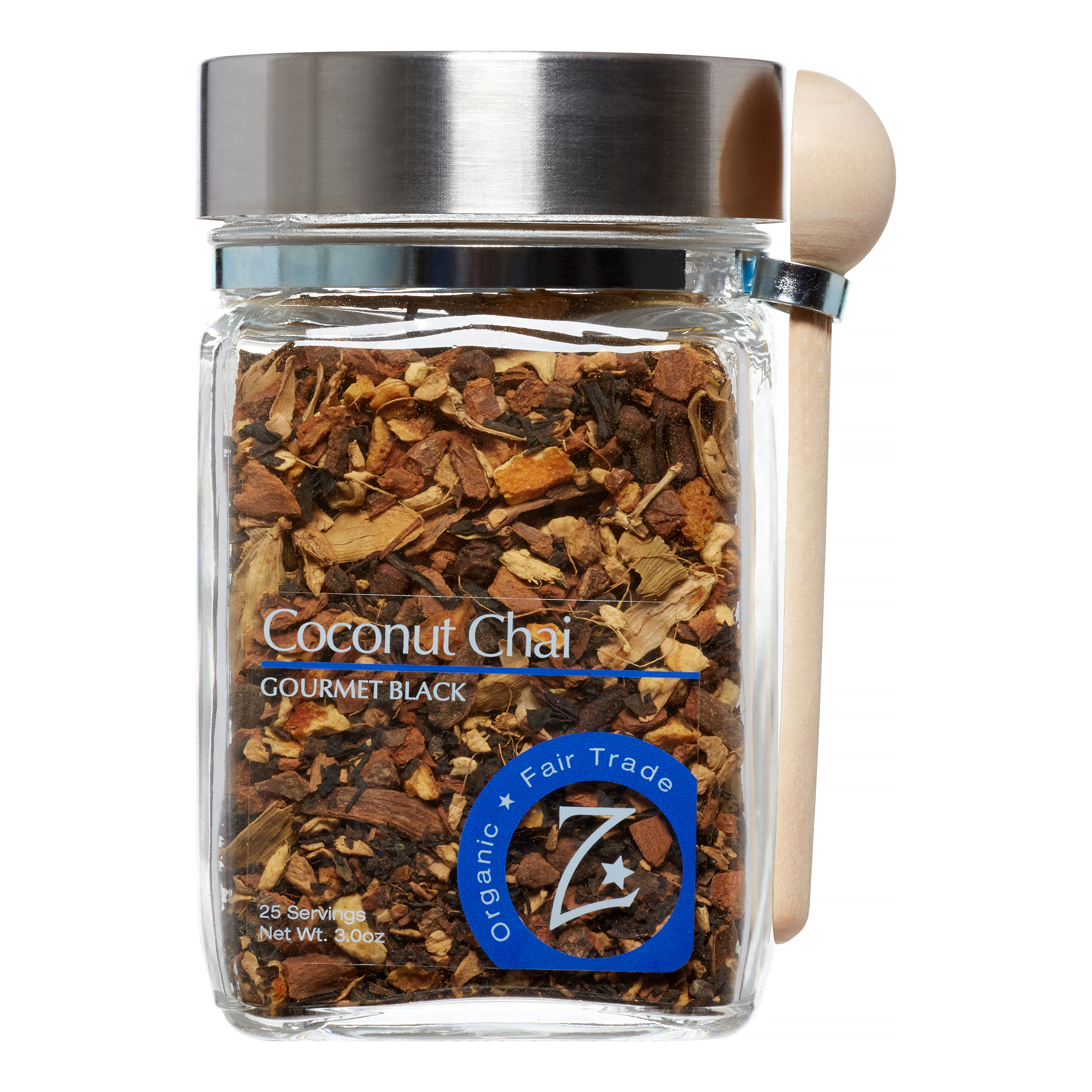Zhena's Gypsy Tea Organic Loose Leaf Black Tea Coconut Chai, 3 Fl Oz