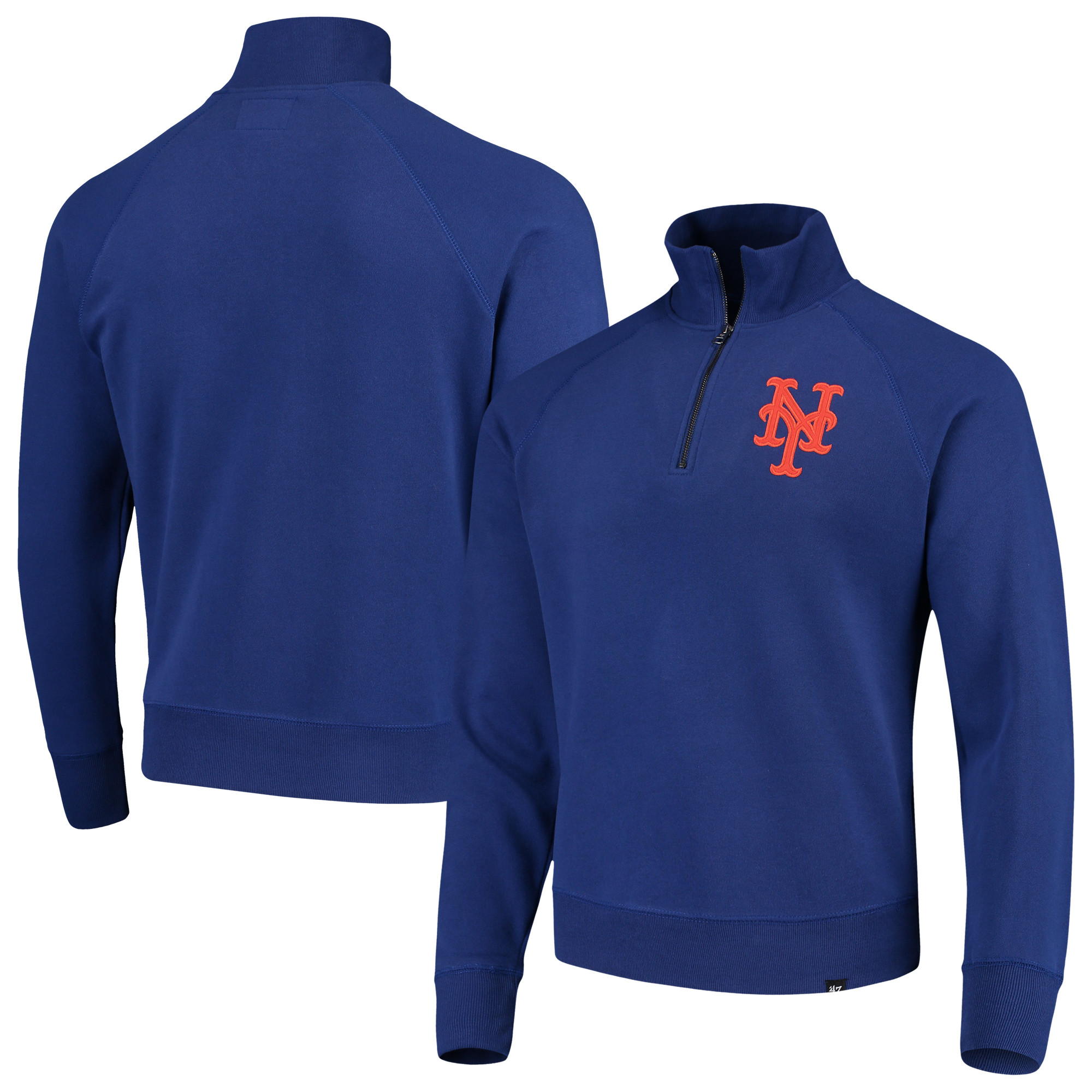 New York Mets '47 MLB Headline Quarter-Zip Pullover Jacket - Royal