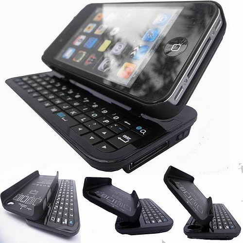 E-Stand Slide-out Bluetooth 2.0 Keyboard Hard Case for iPhone 4/4S
