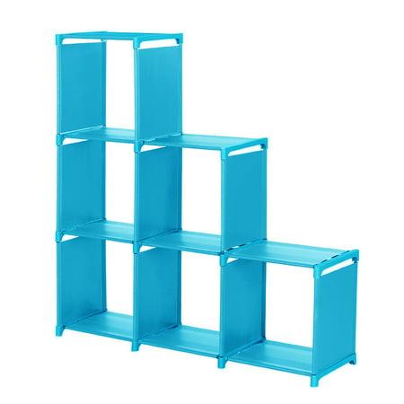 3-tier Storage Cube Closet Organizer Shelf 6-cube Cabinet Bookcase ()