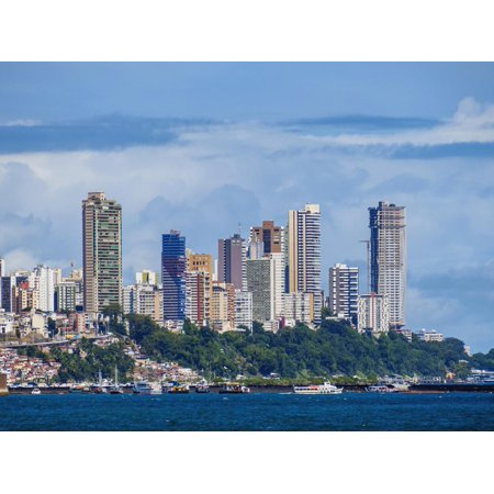 City seen from the Bay of All Saints, Salvador, State of Bahia, Brazil, South America Print Wall Art By Karol Kozlowski - Party City South Bay