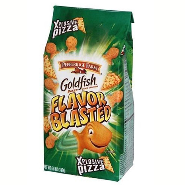 Pepperidge Farm Goldfish Flavor Blasted Xplosive Pizza Baked Snack Crackers 6.6 oz Bags - Single Pack