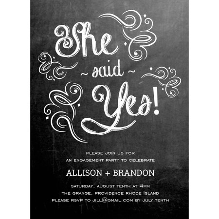 Sweet Engagement Party Invite Standard Engagement](Wedding Invites Cheap)