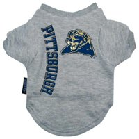 Pittsburgh Panthers Heather Grey Pet T-Shirt - Small