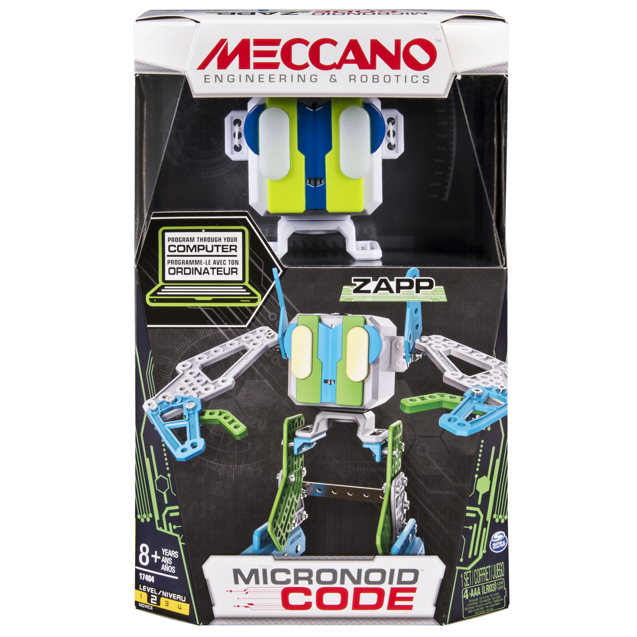 Meccano-Erector Micronoid Code Zapp Programmable Robot Building Kit by Spin Master Ltd