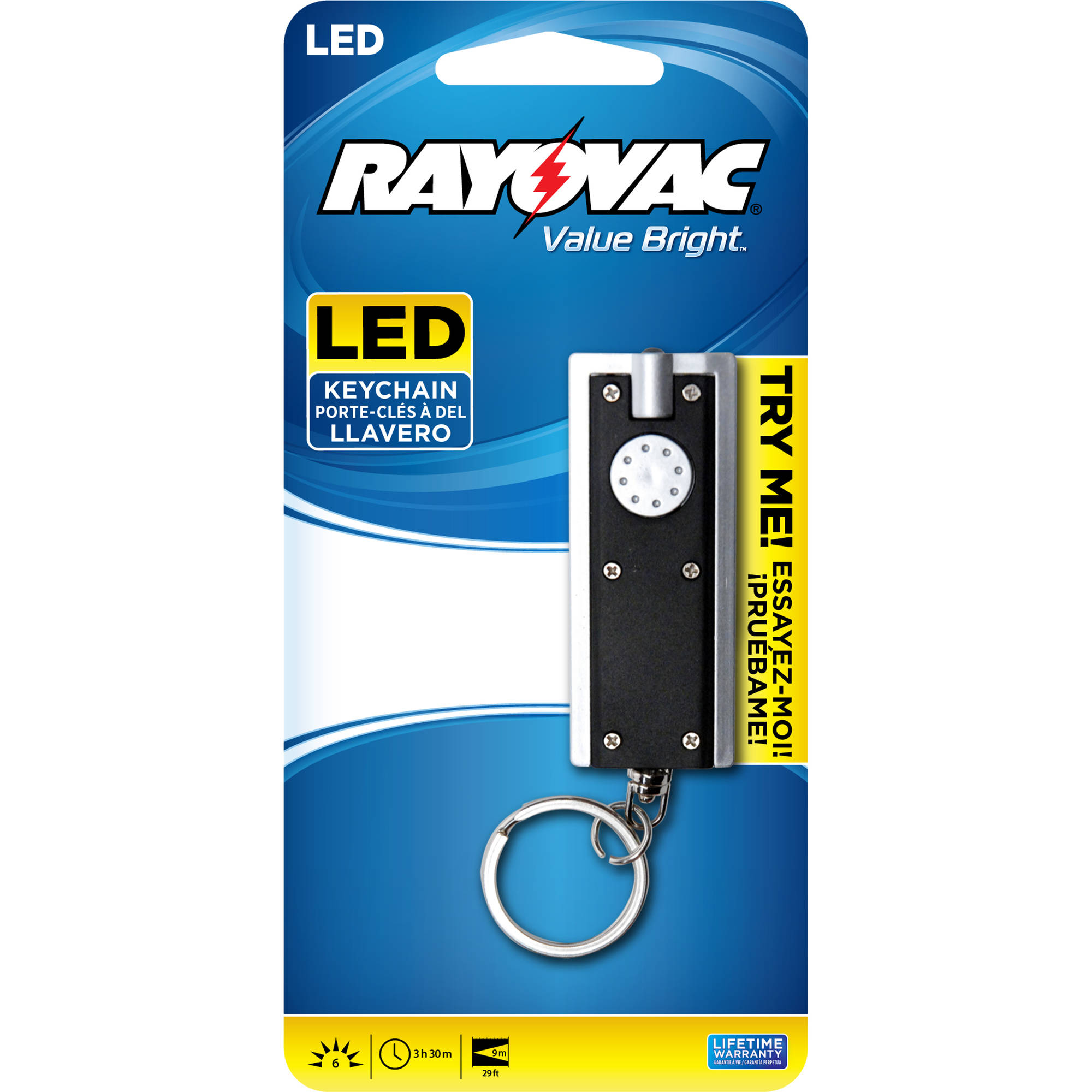 Rayovac LED Flashlight Keychain (Colors May Vary)