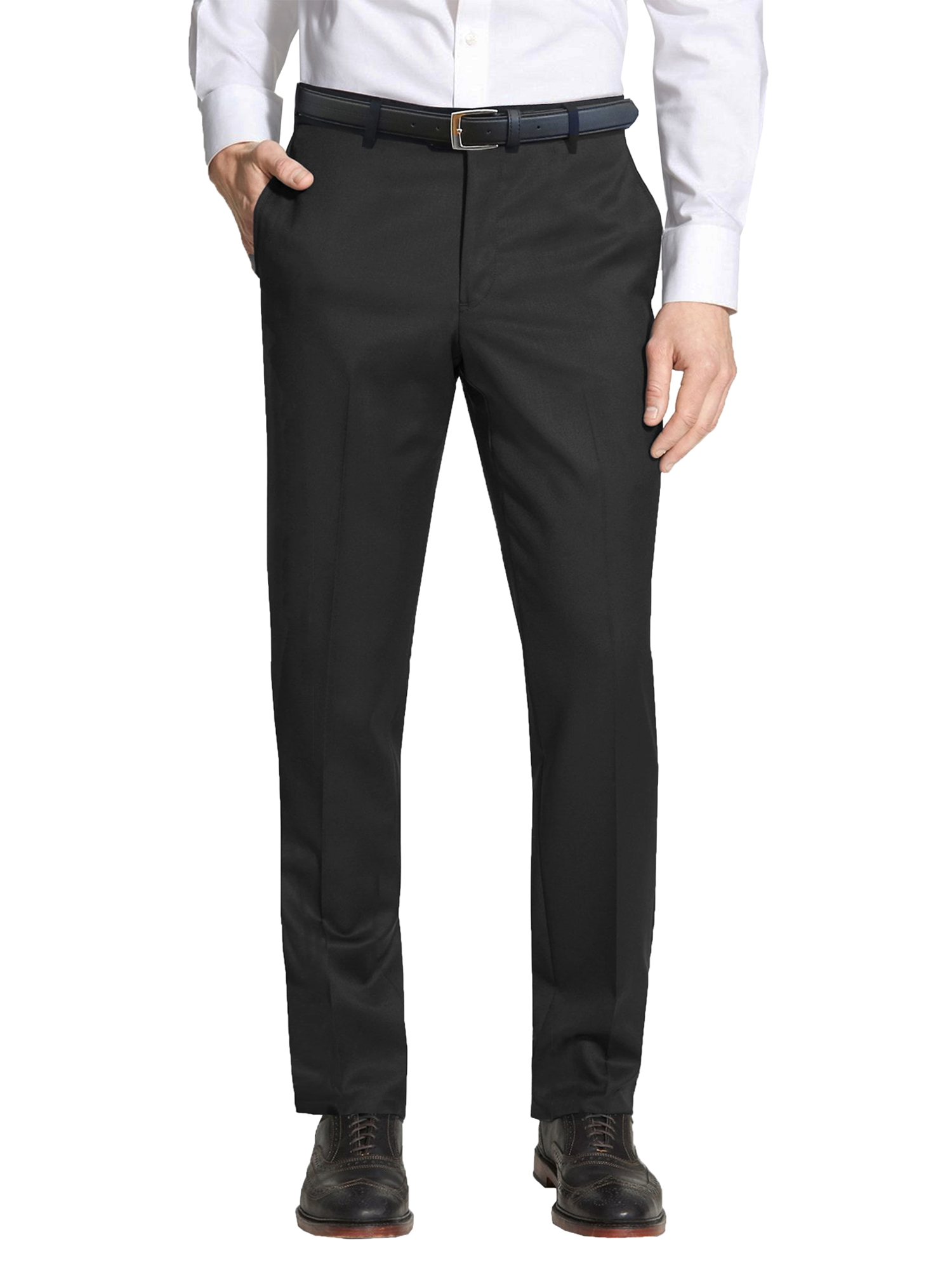 Men's Slim-Fit Belted Casual Dress Pants