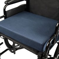 DMI Seat Cushion for Wheelchairs, Mobility Scooters, Office and Kitchen Chairs or Car Seats to Add Support and Comfort while Reducing Pressure and Stress on Back, 3 inches thick, 16 x 18, Navy Blue