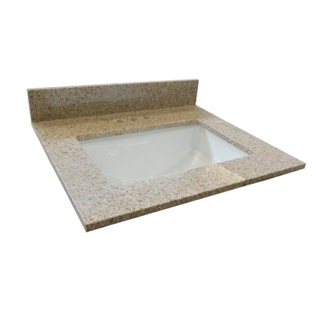 Granite Vanity (Design House 563171 Single Bowl Granite Vanity Top 37