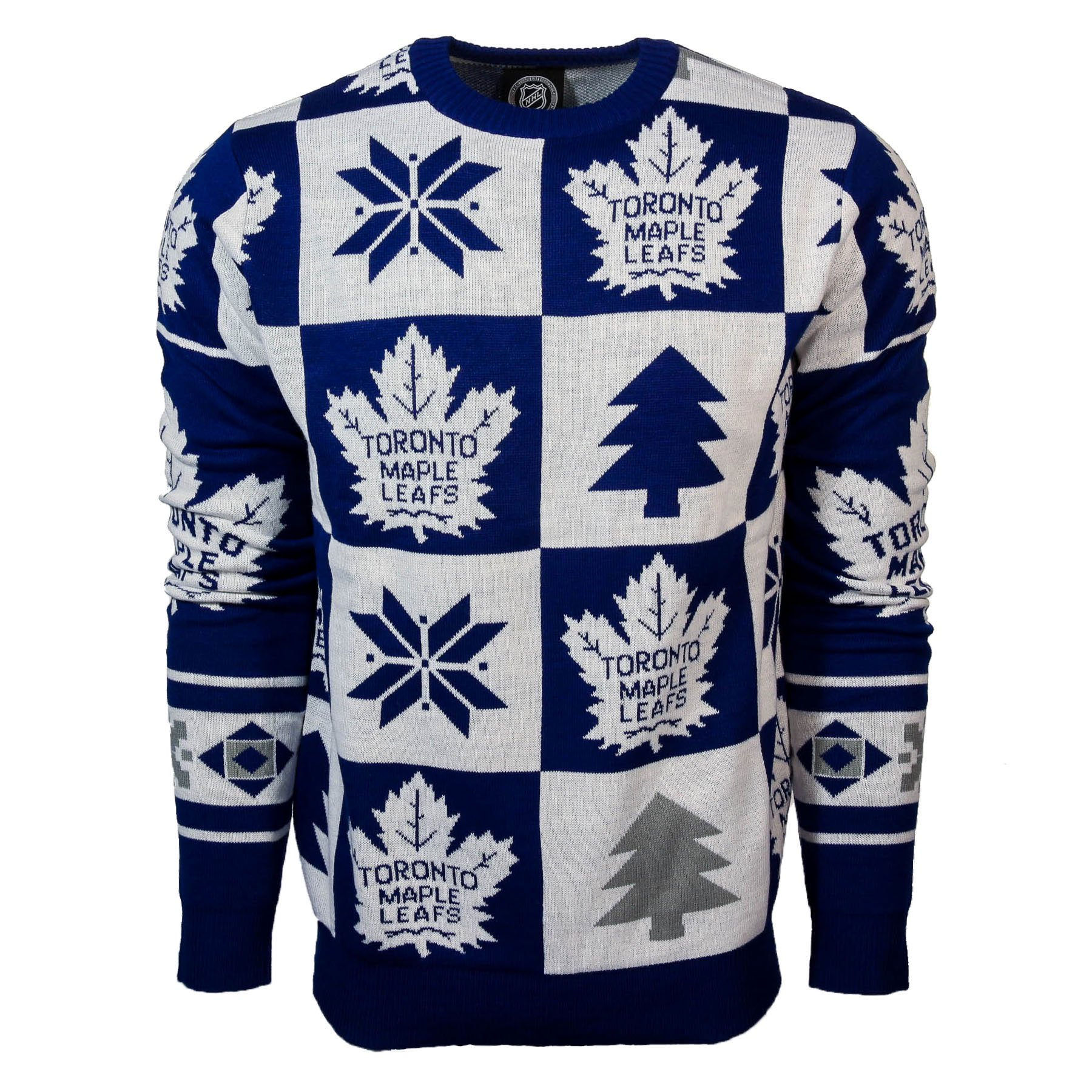 the best attitude e8ed6 170d7 Toronto Maple Leafs NHL Patches Ugly Crewneck Sweater ...