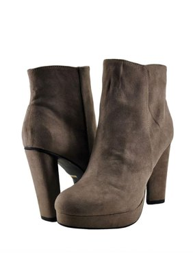 8b9f97f2d0f1 Product Image Bamboo Twisty 01M Women s Shoes Platform Shin High Bootie  Taupe Faux Suede