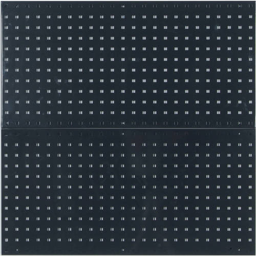 "LocBoard (2) 18""W x 36""H x 9/16""D Epoxy, 18 Gauge Steel Square Hole Pegboards"