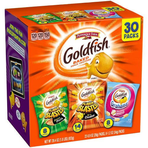 Pepperidge Farm Goldfish Baked Snack Crackers Variety Pack, 30 ct, 29.4 oz