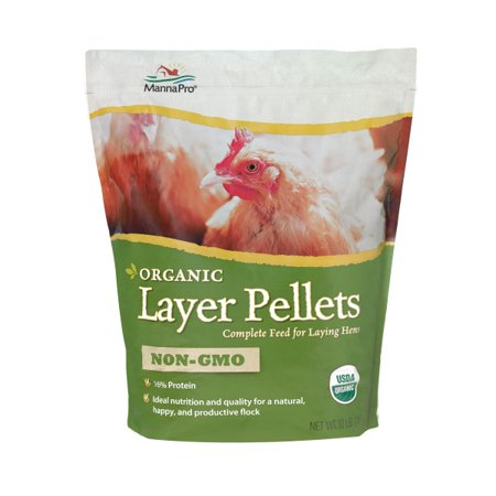 Manna Pro Organic Layer Pellets Chicken Feed, 10 lbs.