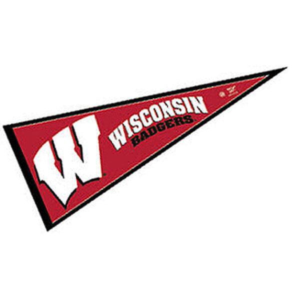 "Wisconsin Badgers 12"" X 30"" Felt College Pennant"