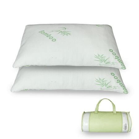 Premium Firm Hypoallergenic Bamboo Fiber Memory Foam Pillow Queen (Single/Nantong)