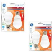 GE Energy Smart CFL 11-Watt (40-watt replacement) 450-Lumen A17 Light Bulb with Medium Base (4-Pack)