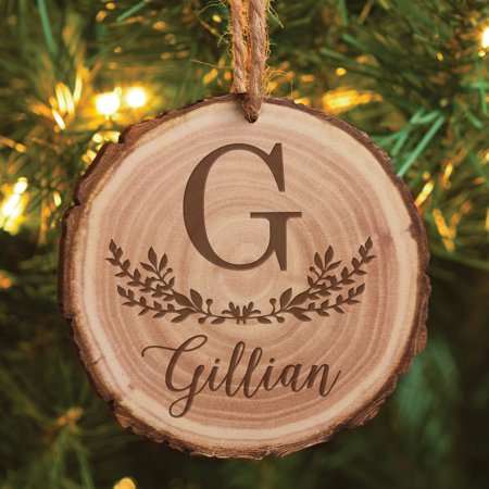 - Family Name Personalized Bark Ornament