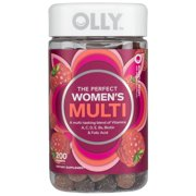 OLLY The Perfect Women's Multi, Multivitamin Gummies, Berry, 200 Ct.