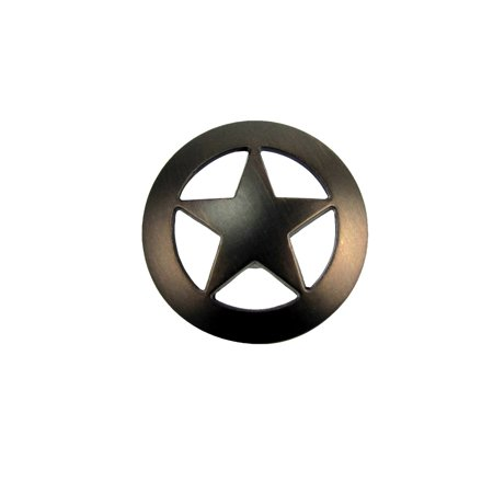 Bronze Star Kitchen Drawer Bin Pull Western Screw Vanity Knob Rustic Cabinet Hardware