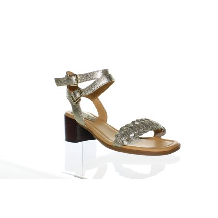 Sperry Top Sider Womens Gold Cup Vivian Platinum Ankle Strap Heels Size 5.5