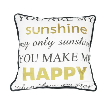 Mainstays You Are My Sunshine Decorative Pillow Walmart Magnificent You Are My Sunshine Decorative Pillow