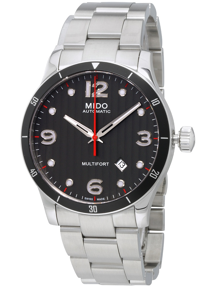 Multifort Stainless Steel Black Dial Automatic Men's Watch M0254071106100