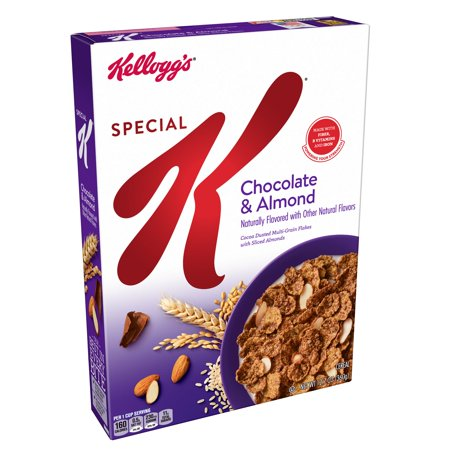 (2 Pack) Kellogg's Special K Breakfast Cereal, Chocolate Almond, 12.7 Oz