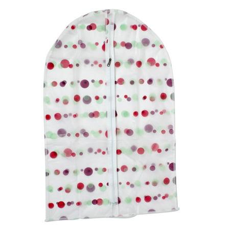 """Clothes Suit Garment PEVA Dots Printed Zip Up Dustproof Cover Bag 27"""" Length - image 4 de 4"""