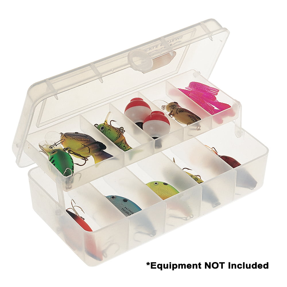 Plano Compact Phantom 10-Compartment Tackle Box, Clear by Plano