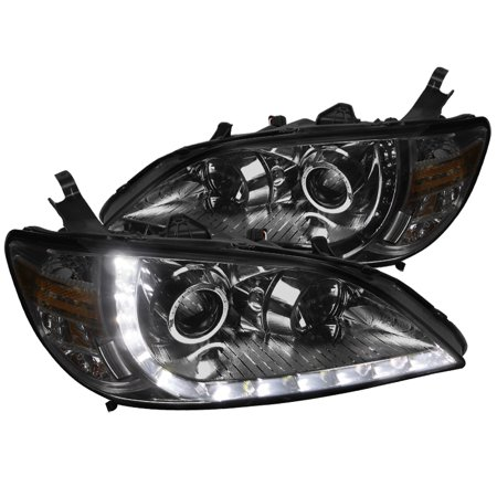 2005 Honda Civic Headlight - Spec-D Tuning 2004-2005 Honda Civic R8 Led Projector Head Lights 2004 2005 (Left + Right)