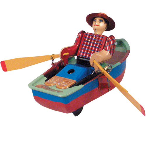 Alexander Taron Collectible Decorative Tin Toy Rowboat