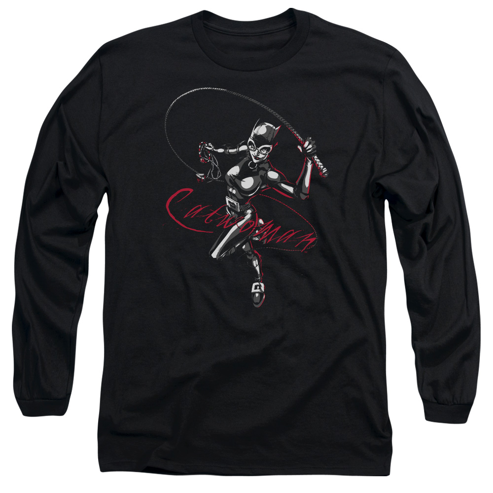BATMAN/KITTEN WITH A WHIP - L/S ADULT 18/1 - BLACK - 2X