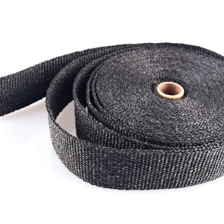 Black Fiberglass Exhaust Header Wrap Pipe Wrap Tape Turbo Heat Insulation  Cloth for Downpipe Car Motorcycle (Black, 5 m 5 cm) - Walmart com