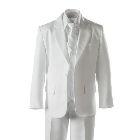 Boys White Suit 2 Button 5 Piece by Cole