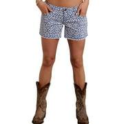 Stetson Western Shorts Womens Boyfriend Denim Blue 11-055-0202-0227 BU