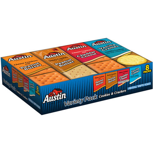 (3 Pack) Austin Cookies & Crackers Variety Pack, 1.38 8 count