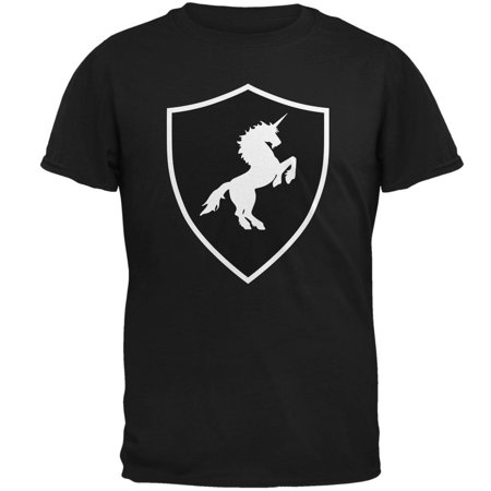 Halloween Knight Shield Costume Unicorn Mens T Shirt](Halloween Costume Ideas Black T Shirt)